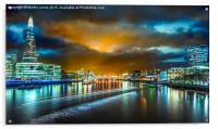 Last Light over London's City Lights, Acrylic Print