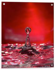 Ruby Ripples, Acrylic Print