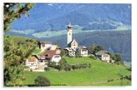 Mittelberg, Sud tyrol, Acrylic Print