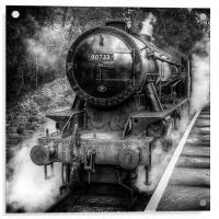 Under Steam Again. Mono., Acrylic Print
