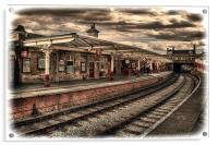 Vintage Keighley Station, Acrylic Print