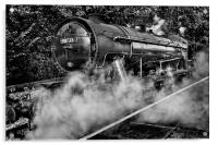 Austerity Class Engine in Mono, Acrylic Print