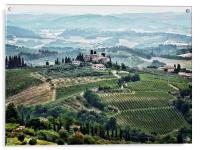 San Gimignano View, Acrylic Print