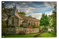 Saint Aidan's Church, Gillamoor., Acrylic Print