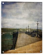 Textures On Swanage Pier, Acrylic Print
