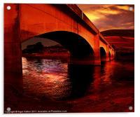 Yorkshire Bridge Sun Rise, Acrylic Print