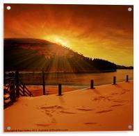 Howden Sun Burst, Acrylic Print