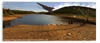 Vulcan Over Derwent Reservoir, Acrylic Print