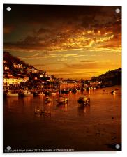 Looe at Sunset, Acrylic Print