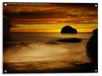 Trebarwith Strand at Sunset, Acrylic Print