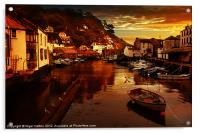Polperro Sunset, Acrylic Print