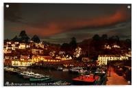 Polperro Walled Harbour, Acrylic Print