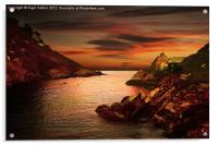 Polperro Bay, Acrylic Print