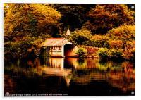 Trevrano Boat House, Acrylic Print