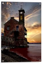 The Clock Tower, Acrylic Print