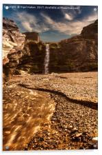 Tintagel Waterfall, Acrylic Print