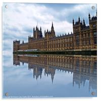 Westminster reflected, Acrylic Print
