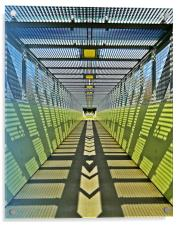 Pedestrian bridge, Acrylic Print