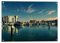Evening at Sovereign Harbour, Acrylic Print