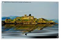 Isolated Inchgarvie Island, Acrylic Print