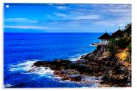 Cliff Edge Restaurant, Acrylic Print