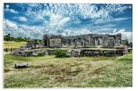 Ruin at Tulum , Acrylic Print