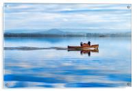 Boat on the Loch, Acrylic Print
