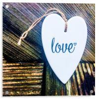 Love Heart Plaque, Acrylic Print