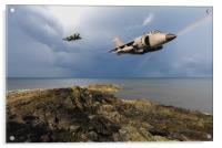 Sea Harriers over the Falklands, Acrylic Print