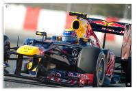 Mark Webber 2012 Spain - Catalunya, Acrylic Print