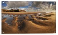 Three Cliffs Sand Pattern, Acrylic Print