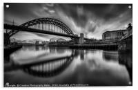 Newcastle Cityscape, Acrylic Print