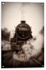 Steam Train - 45212 Locomotive Head On, Acrylic Print