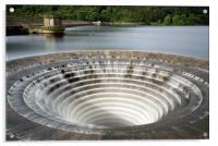 Ladybower Reservoir Plug Hole, Acrylic Print
