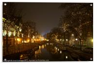 misty cold canals, Acrylic Print