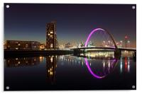 Glasgow Clyde Arc Bridge, Acrylic Print