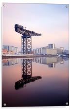 Glasgow Finnieston crane reflection, Acrylic Print