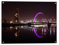Glasgow Clyde Arc at Night, Acrylic Print