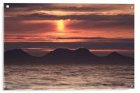 Red Sunset over Sound of Jura, Acrylic Print