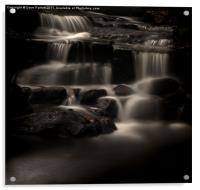 Lumsdale Valley Waterfalls, Acrylic Print