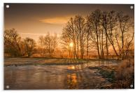 Herefordshire Sunrise, Acrylic Print