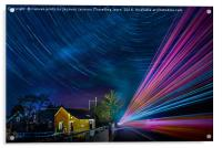 Star car and lorry trails re-visited, Acrylic Print