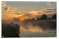 trent sunrise, Acrylic Print
