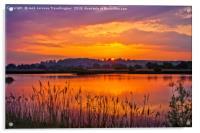 Sunrise over Drayton RSPB, Acrylic Print