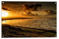 Surfer Sunrise, Acrylic Print