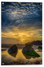 Combesgate Beach, Acrylic Print