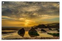 Coombesgate  Beach, Woolacombe., Acrylic Print