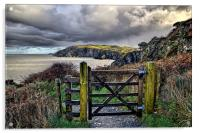 Sandy Cove, Lee Bay, North Devon, Acrylic Print
