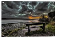 Sunset on the River Taw, Acrylic Print