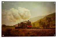 The Jacobite Steam Train, Acrylic Print